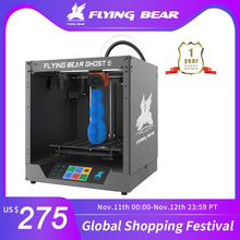 送料無料flyingbear ゴースト5フルメタルフレーム高精度diy 3dプリンタキットimprimante impresoraガラスプラットフォーム