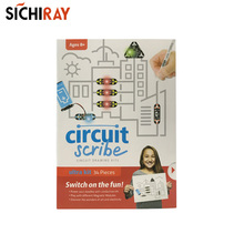 Circuit scribe ultra kit 34 pieces  circuit  drawing kit electric conductive pen for children educational toys 0 3ml conductive silver paint pen conductive pen for repair keyboard pcb circuit cpu thermally conductive silicone