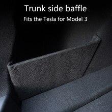 Trunk Boot Baffle อุปกรณ์เสริม Trunk Partition อะไหล่ไฟท้ายรถกล่อง Baffle สำหรับ Tesla รุ่น3
