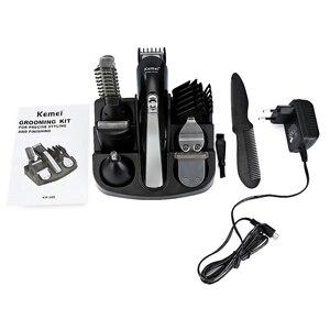 Image 5 - Kemei KM600 tondeuse à cheveux professionnelle 6 en 1 tondeuse à cheveux rasoir ensembles tondeuse à barbe électrique Machine de découpe de cheveux