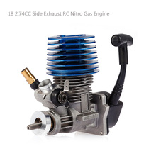 SH18 Side Exhaust RC Nitro Gas Engine 2.74CC for RC HSP HPI RedCat Racing 1/10 Nitro Monster Buggy Truggy Truck Drift Car стоимость