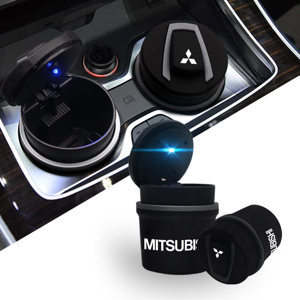 1PC High Temperature Car Ashtray Portable Car Ashtray Home Office Smokeless Ashtray For Mitsubishi ASX Lancer Pajero Outlander