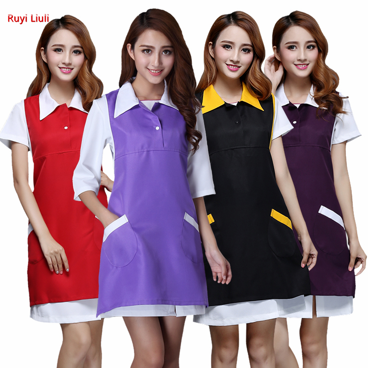 Ruyi L-Beauty Manicure Apron Korean Version Of The New Beauty Apron Work Clothes Beautician Work Clothes