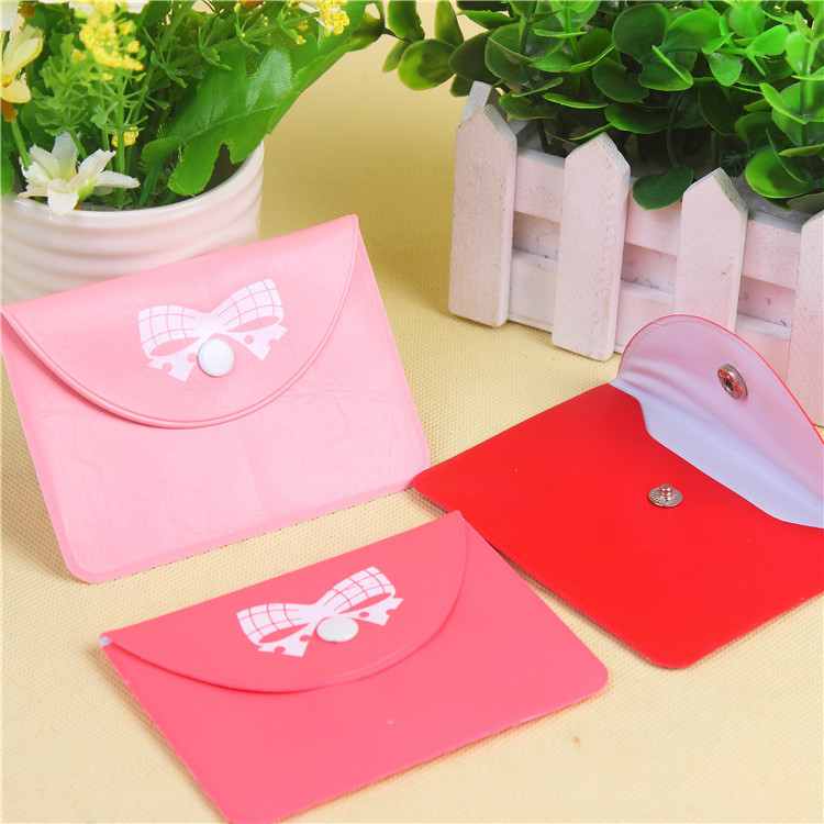 Korean-style Bow Coins Storgage Bag Stud Bank Card Bus Card Wallet Portable Carrying Purse