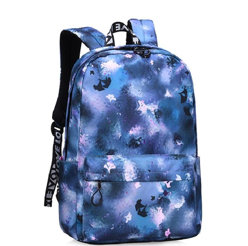 Fashion Starry Sky Pattern Children's Student Bag Large Capacity Ms. Backpack Travel Bag Laptop Bag Backpack 2019