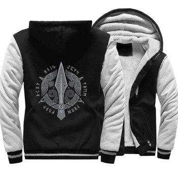 Odin Vikings Hoodie Men Viking Berserker Stylish Jacket 2020 Winter Brand Warm Fleece Hip Hop Hooded Sweatshirt Coat Homme 5XL мультиметр цифровой robiton dmm 200