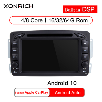 4GRAM 64GROM Android 10 Car DVD Player For Mercedes Benz CLK W209 W203 W463 W208 Wifi 3G GPS Bluetooth Radio Stereo audio media image