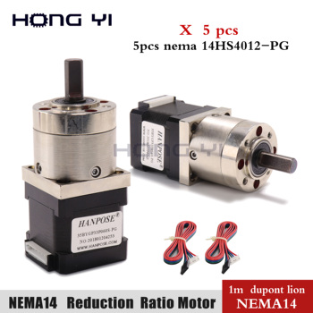 5pcs 35motor Nema 14 Stepper Motor 4-lead Extruder Gear Stepper Motor for 3D Ratio 5:1 Planetary Gearbox cnc image