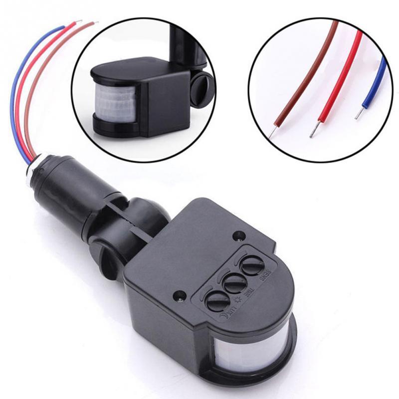 Sensor de movimiento profesional Universal interruptor de luz al aire libre AC 220V infrarrojo automático PIR armas de autodefensa con luz LED caliente