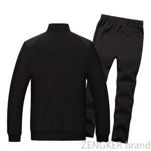 Image 4 - גברים של גודל גדול חליפה בתוספת גודל זיעה חליפת אביב ספורט גדול גודל גברים של אימונית 8XL 7XL 6XL Jogger חליפות לגברים תלבושת