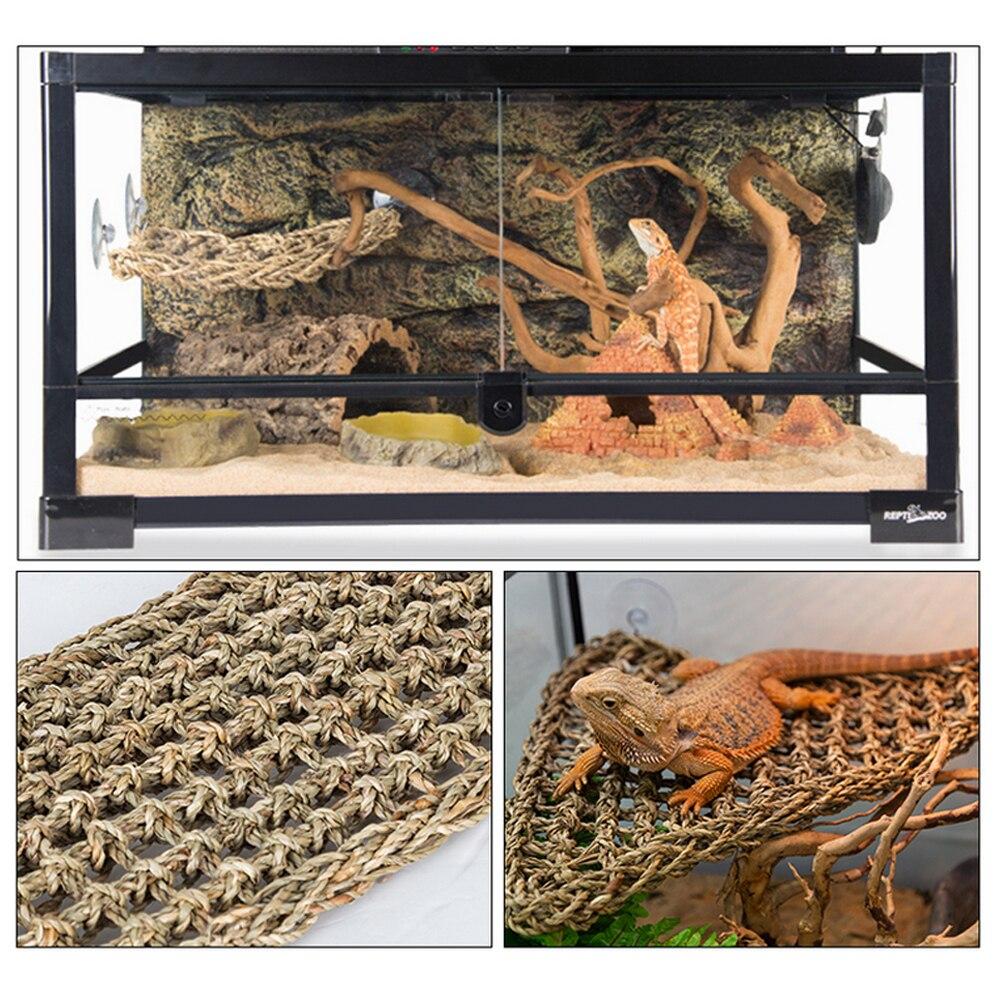 40x17cm réptil terrário para lagarto espreguiçadeira rede