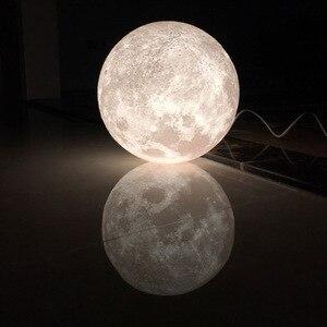 Image 2 - 3Dพิมพ์จี้ไฟNovelty Creative MoonบรรยากาศNight Lightโคมไฟร้านอาหาร/บาร์แขวนโคมไฟ