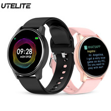 Utelite Q5pro Smart Horloge Mannen Vrouwen Sport Fitness Tracker Klok Hartslag Sleep Monitor IP67 Waterdicht Weersverwachting Horloge(China)