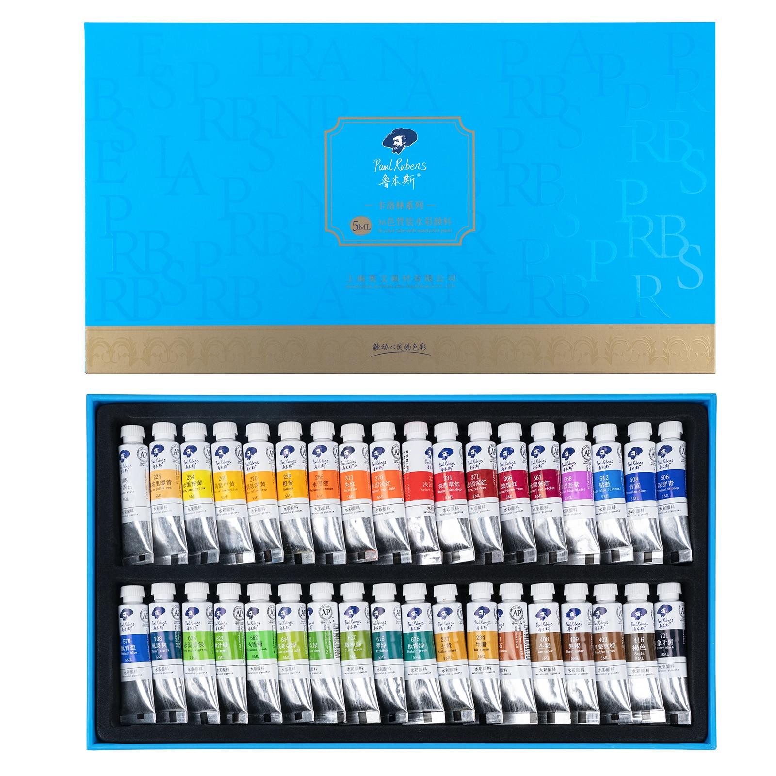 Paul, 5 мл трубки акварель Краски 36 Цвета набор чернил для татуажа, пигмент для начинающих рисунок художественные канцелярские принадлежности...
