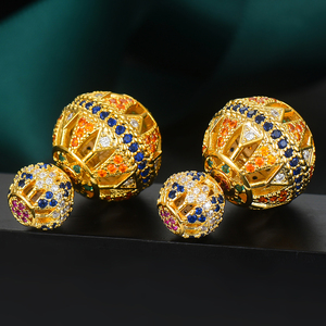 Image 4 - GODKI Luxury Vintage Hollow Ball For Women Wedding Party Cubic Zirconia Earring High Jewelry Addiction