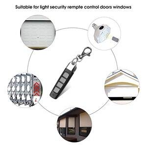 Image 4 - Kebidu 4 przyciski Clone pilot 433MHZ bezprzewodowy nadajnik brama garażowa elektryczny kontroler drzwi przed kradzieżą zamek na klucz