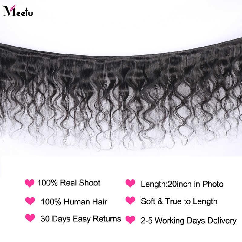 Meetu объемная волна пучки волос 100% человеческие волосы 1/3/4 пучки волос натуральный Цвет 8-28 дюймовые бразильские волосы плетение пучки волос волосы Remy