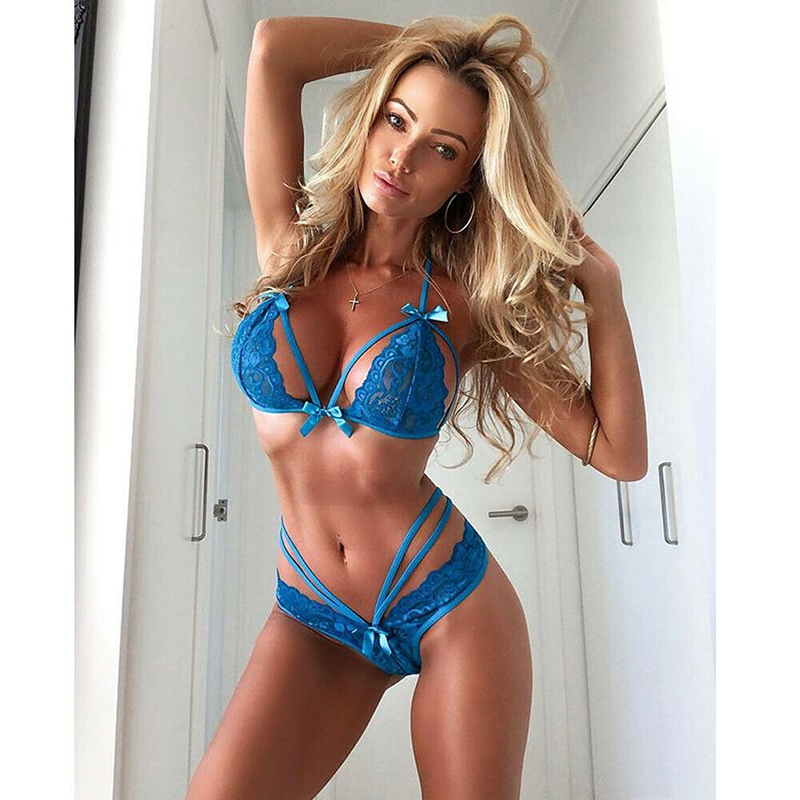 Womens Sissy <font><b>Sexy</b></font> Lace Lingerie set <font><b>open</b></font> cup bra G-string exotic set Underwear <font><b>micro</b></font> <font><b>bikini</b></font> <font><b>extreme</b></font> Floral exotic apparel Sets image