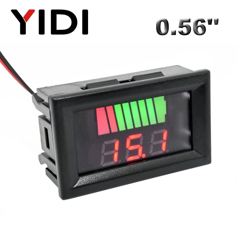 DC 12V-72V medidor de carga y volt/ímetro digital con indicador de capacidad de bater/ía