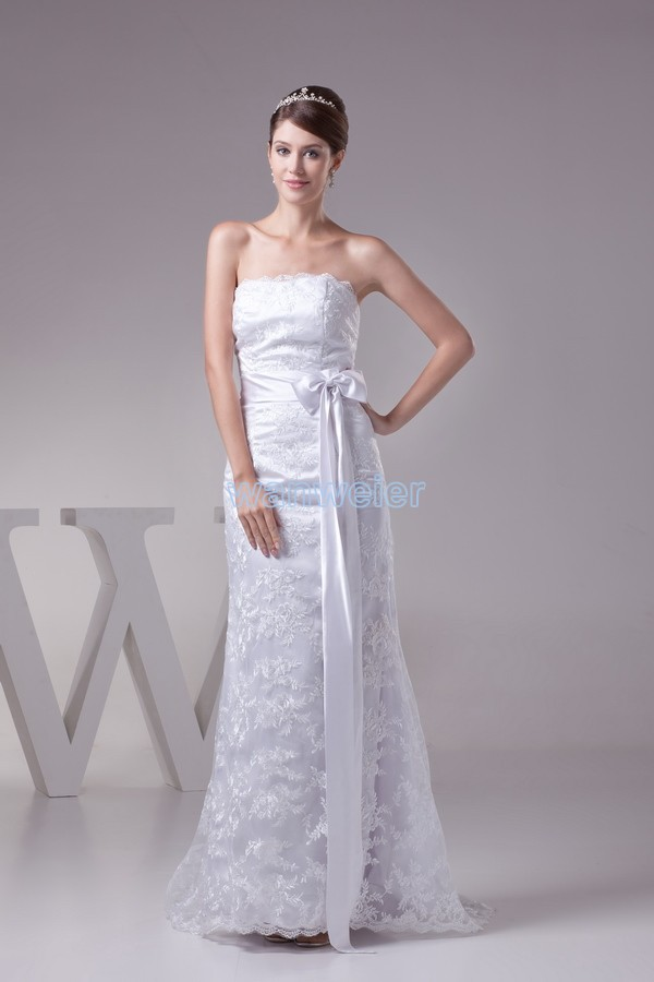 New Design Fashion Bride Long Lace Up Bridal Gown Belts Custom Size/color White/ivory Lace Mother Of The Bride Dresses