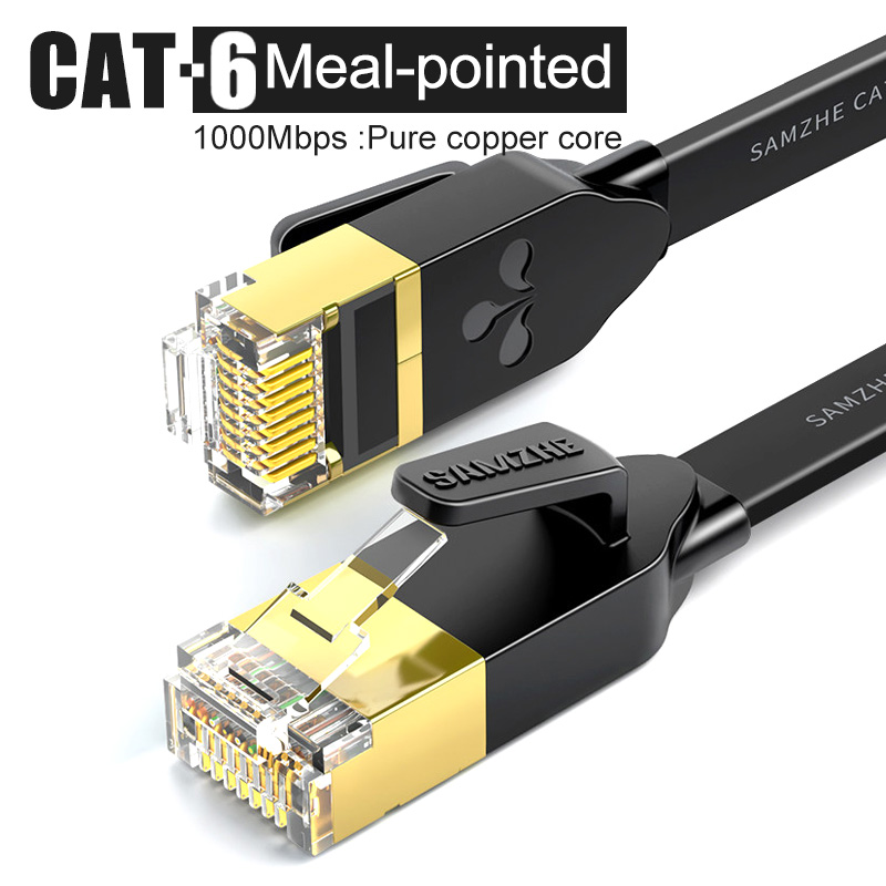 CAT6 Flat Ethernet Cable RJ45 Lan Cable Networking Ethernet Patch Cord For Computer Router Laptop Router 5m/8m/10m/15m/20m