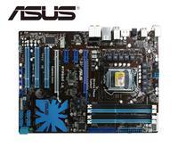 ASUS P7P55D LE desktop motherboard für intel LGA 1156 DDR3 für i5 i7 cpu 16GB USB 2 0 SATA2 P55 verwendet mainboard pc boards-in Motherboards aus Computer und Büro bei