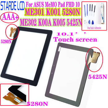 AAA+ Touch Screen Digitizer For ASUS MeMO Pad FHD 10 ME301 K001 5280N ME302 ME302C ME302KL K00A K005 5425N FPC-1 image