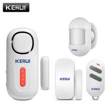 Kerui 120db sem fio da porta/janela de entrada segurança do assaltante sensor alarme pir porta sistema de alarme magnético segurança com controle remoto