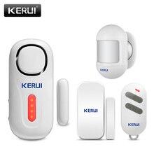 KERUI 120DB kablosuz kapı/pencere giriş güvenlik hırsız sensörü Alarm PIR kapı manyetik Alarm sistemi güvenlik uzaktan kumanda ile