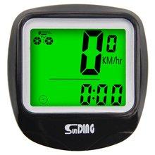 SUNDING Bike Computer Speedometer Wire Waterproof Bicycle Odometer Cycle Computer Multi-Function LCD Back-Light Display sunding wireless electronic bicycle computer speedometer
