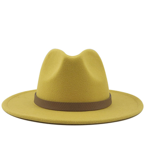 Wide Brim Autumn Trilby Caps Female Male Fashion Top Hat Jazz Cap Winter Panama Hat Vintage Fedoras Men Mafia Hat Felt 56-60CM(China)
