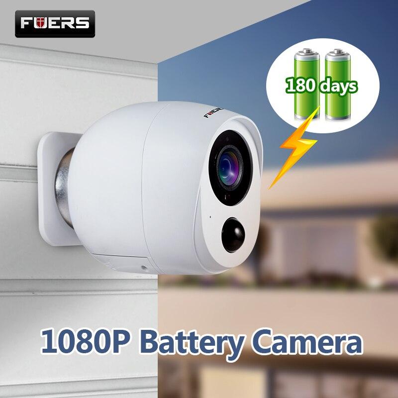 Fuers ao ar livre câmera ip 1080p hd bateria wi fi sem fio câmera de vigilância 2mp segurança em casa alarme pir áudio baixa potência