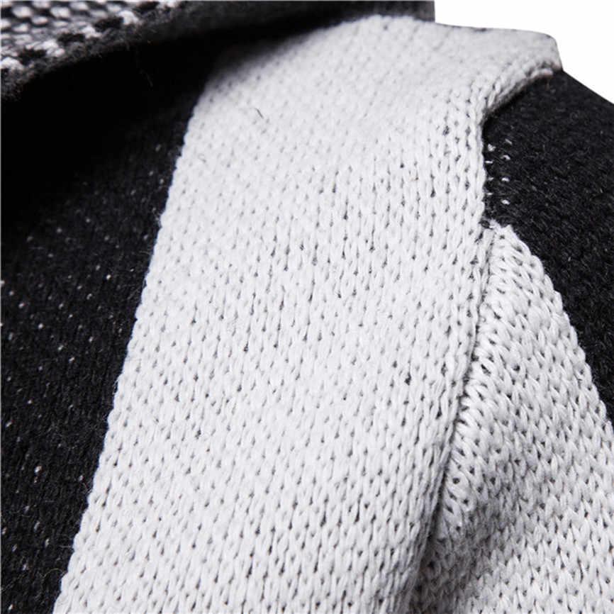 Новинка 2019, повседневные мужские куртки, Мужская однотонная трикотажная куртка с капюшоном в стиле пэчворк, кардиган, топы с длинными рукавами, мужские куртки большого размера