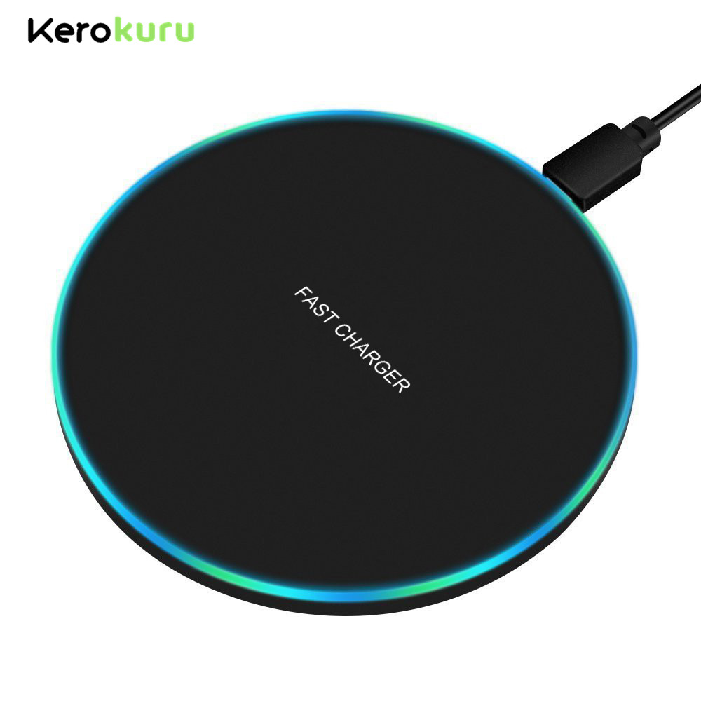 Qi Charging-Pad Xiaomi iPhone Wireless-Charger Galaxy S10 For Samsung Huawei 10W 8-Plus/xs title=