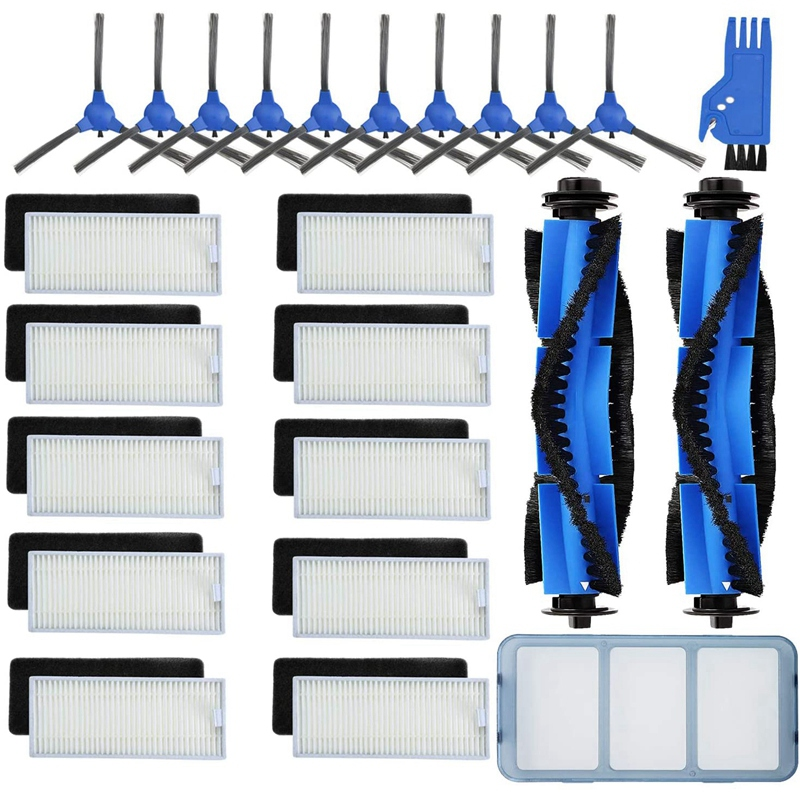 24-Pack Replacement Part Accessories for Eufy RoboVac 11S 12 30C 15T 15C 35C Primary/Filters ,Side ,Rolling Brushes