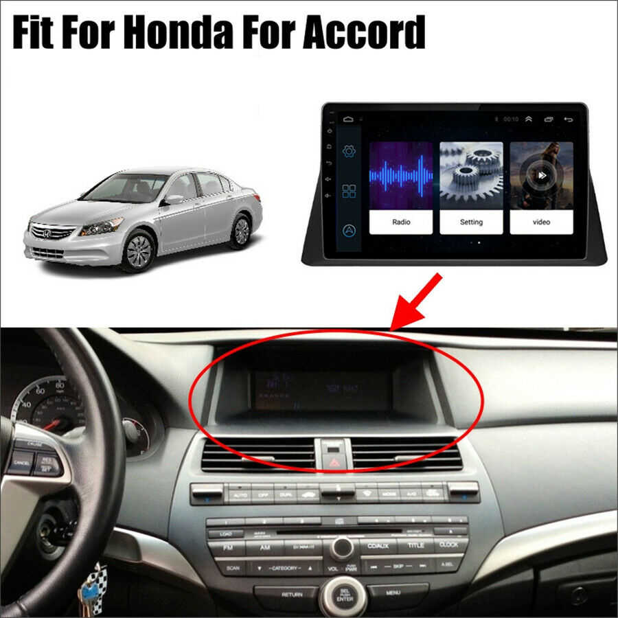"""10.1 """"2Din アンドロイド 9.1 ヘッドユニットカーラジオ gps ナビマルチメディア車なし dvd プレーヤー 2008 2009 2010 2011 2012 2013 ホンダアコード"""