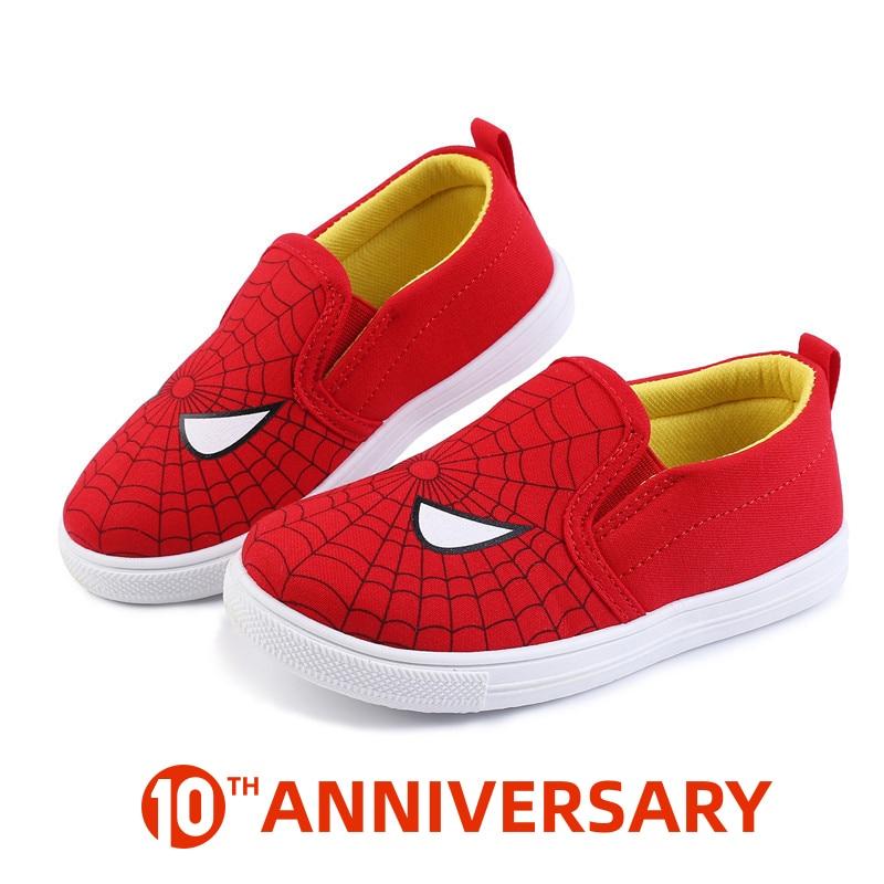 New Children Superman Spiderman Batman Shoes Girls Boys Kids Fashion Cotton Padded Sneakers Christmas/Halloween Shoes Size 20-31