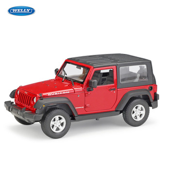 цена на WELLY 1:24 Jeep Wrangler 2007 Jeep Wrangler simulation alloy car model crafts decoration collection toy tools gift