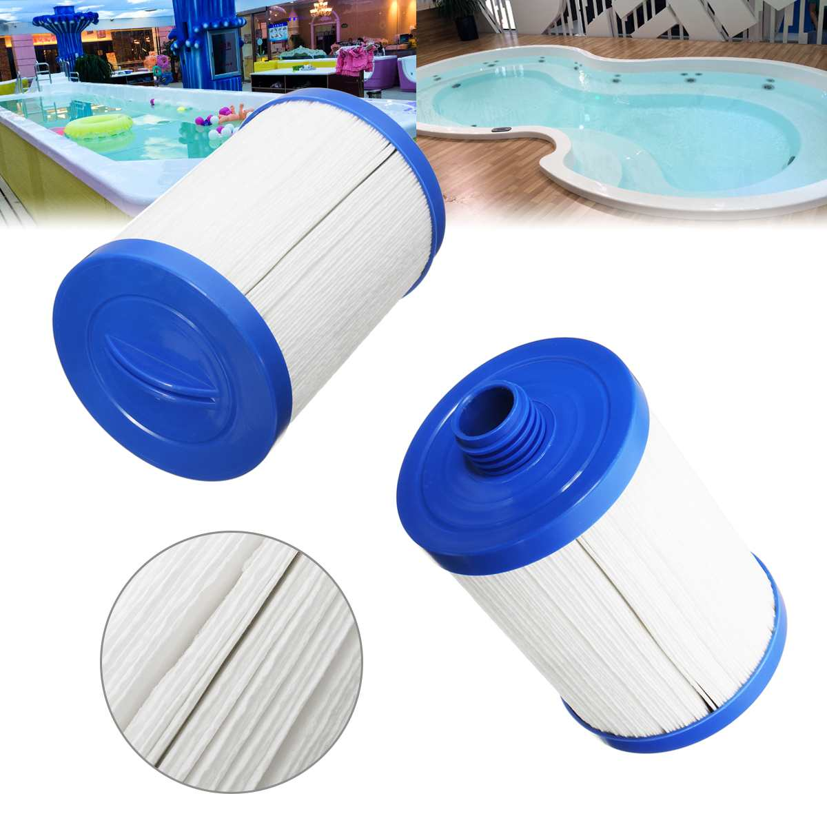 Filter Cartridge Replacement for Sapphire Cyclone Monarch LA Spas Hot Tub PoolSpa Filter Semi-Circular Handle image