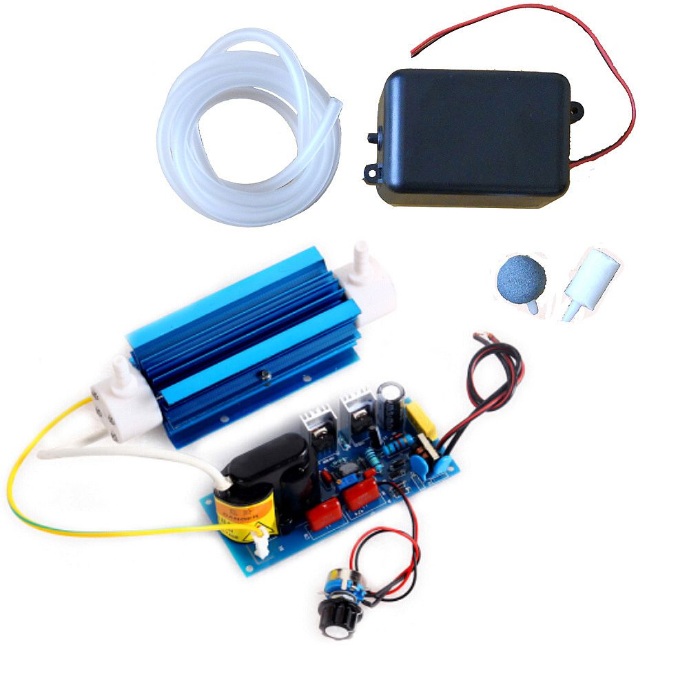 110V/220V 3g Ozone Generator Module Silica Tube Ozone Output Adjustable Air Water Ozonator Sterilization Detoxification