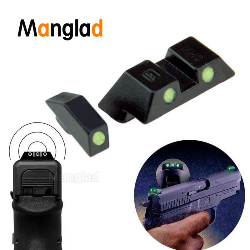 Tactical Glow-in-the-Dark Night Sight Glock Pistol Night Vision Set 9 Mm Clutch  Front And Rear Sight Set For Handbag