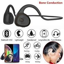 R11 หูฟังบลูทูธ 5.0 ชุดหูฟัง Conduction conduction หูฟังไร้สายกีฬา MIC แฮนด์ฟรีสนับสนุนการจัดส่งลดลง