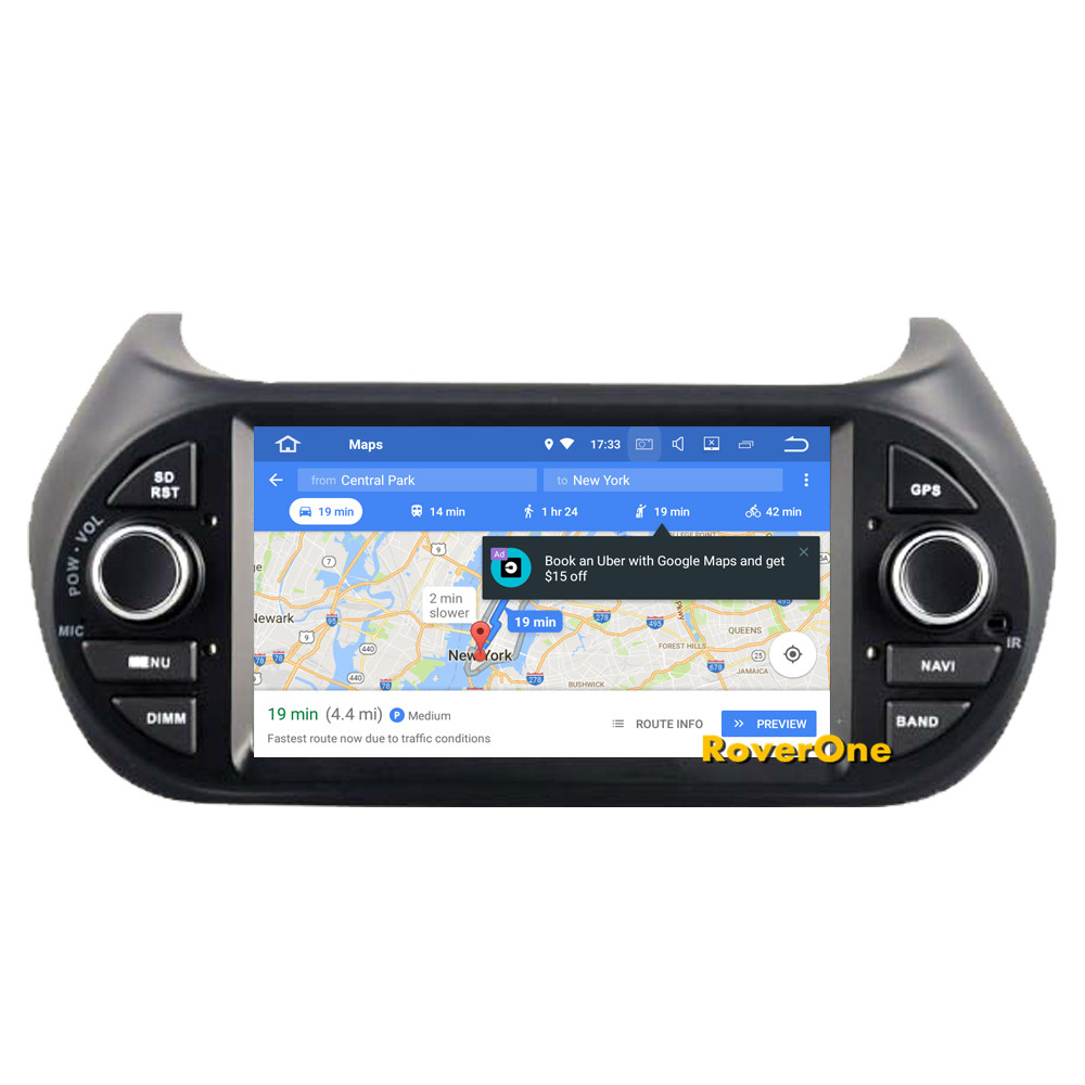 Flash Deal RoverOne Car Multimedia Player For Fiat Fiorino Qubo For Citroen Nemo For Peugeot Bipper Android 9.0 Octa Core Radio Navigation 9