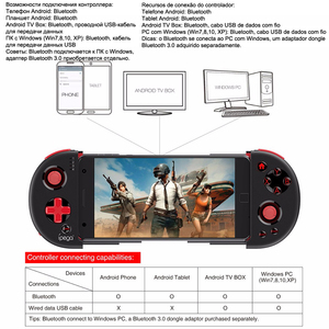 Image 2 - Console Game Pad Bluetooth Gamepad Controller Pubg Mobiele Trigger Joystick Voor Iphone Android Mobiele Telefoon Pc Smart Tv Box Controle