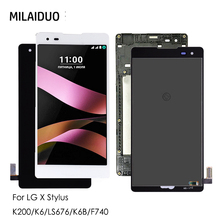 LCD Display For LG K200 LS676 X Stylus LCD Touch Screen Digitizer For LG K6 K6B F740 Assembly Replacement Black No/with Frame black color replacement parts for lg g3 stylus d690 lcd display screen with touch digitizer with frame 1 piece free shipping