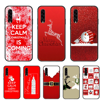 Santa Claus Christmas Phone case hull For Samsung Galaxy A 50 51 20 71 70 40 30 10 E 4G S black funda art bumper 3D shell soft image