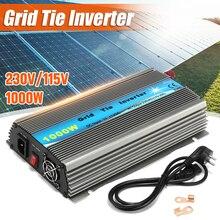 1000 Вт Сетка галстук инвертор для 18 в солнечная панель MPPT функция DC 11-50 в к AC 230 В/115 в Чистая синусоида микро на сетке галстук инвертор