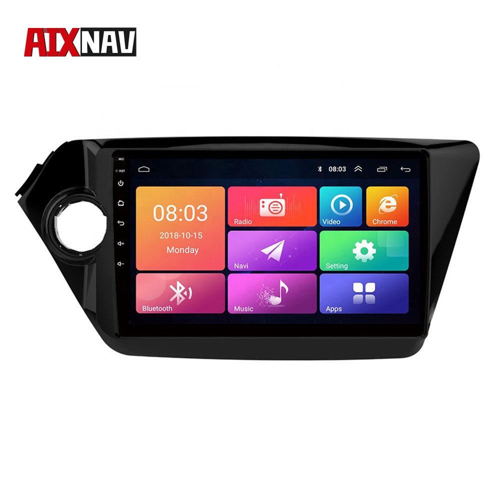 Touchscreen Radio <font><b>1</b></font> <font><b>Din</b></font> Zentralen Multimidia Autoradio Bluetooth Auto Audio <font><b>Android</b></font> <font><b>8.0</b></font> 4 Core GPS Navigator Für KIA K2 2012 -2016 image