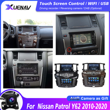 Автомобильная стерео-навигация, мультимедийный плеер для Nissan патруль Y62 2010-2020, двойной экран, оригинальная автомобильная стереосистема, кам...