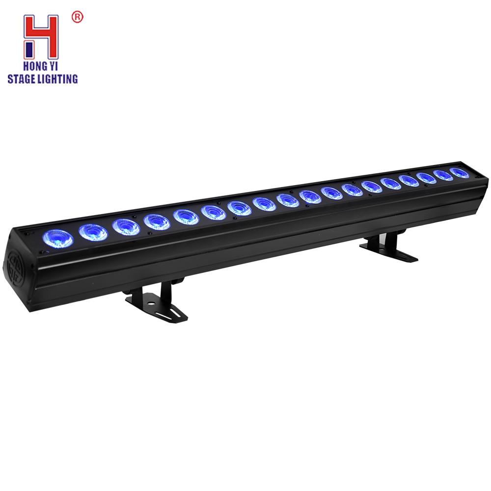 LED Bar Light 18x15W RGBW 5in1 Wall Washer Light DMX512 Sound Disco DJ Party Bar Wedding Wall Wash Stage Effect Lighting